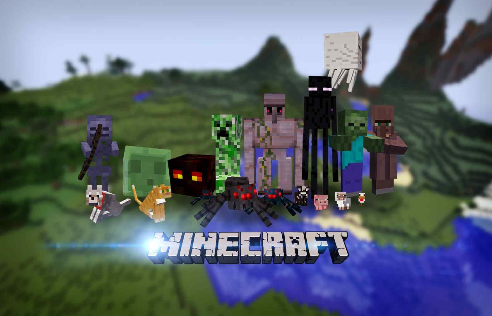 Minecraft Game Walls 1680x1080