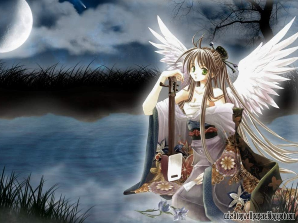 1024x768px anime angels wallpaper wallpapersafari