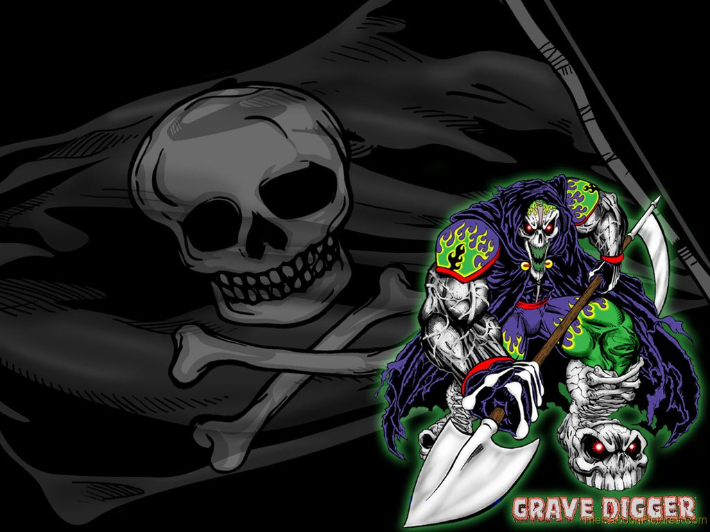 Monster jam wallpaper desktop wallpapersafari - Grave digger wallpaper ...