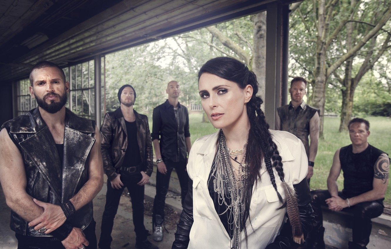 Wallpaper Rock Within Temptation Sharon den Adel images for 1332x850