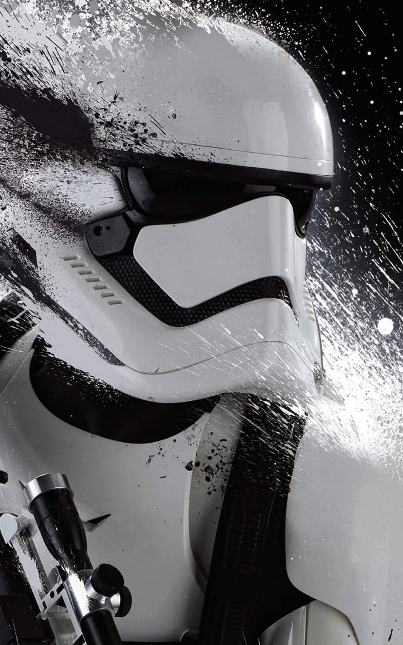 Stormtrooper Splatter Wallpaper for Amazon Kindle Fire HD 800x1280