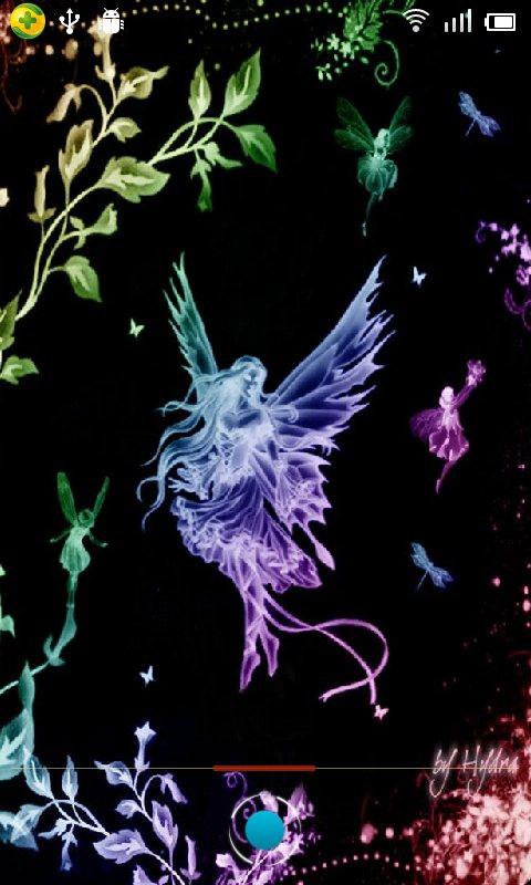 Magic Effect Fairies Neon Live Wallpaper android live wallpaper 480x800