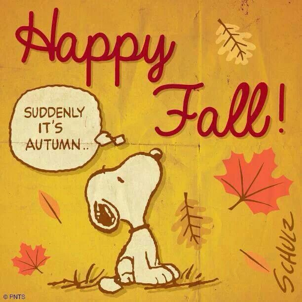 Snoopy says Happy fall Poetry Quotes Funnies Pinterest 612x612