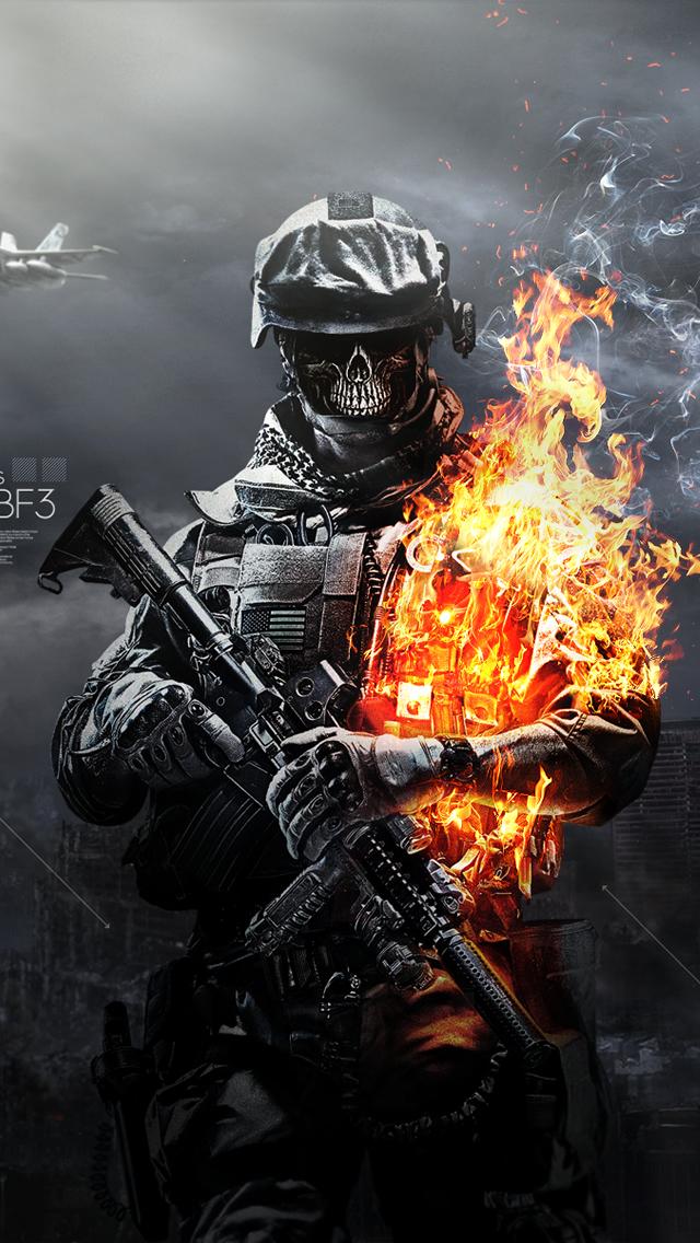 skulls fire iphone wallpaper tags battlefield fire skulls 640x1136