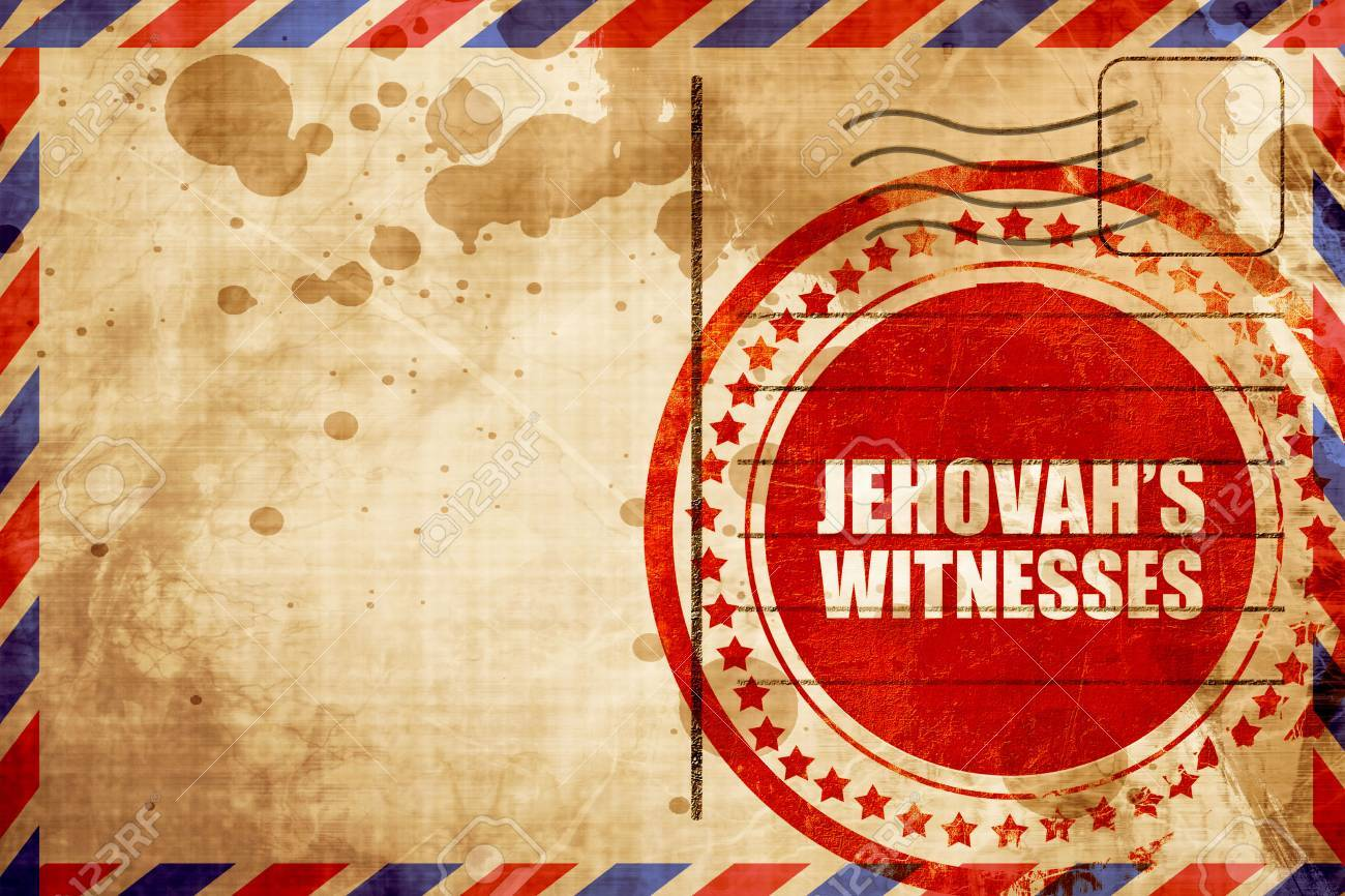 Jehovahs Witnesses Red Grunge Stamp On An Airmail Background 1300x866