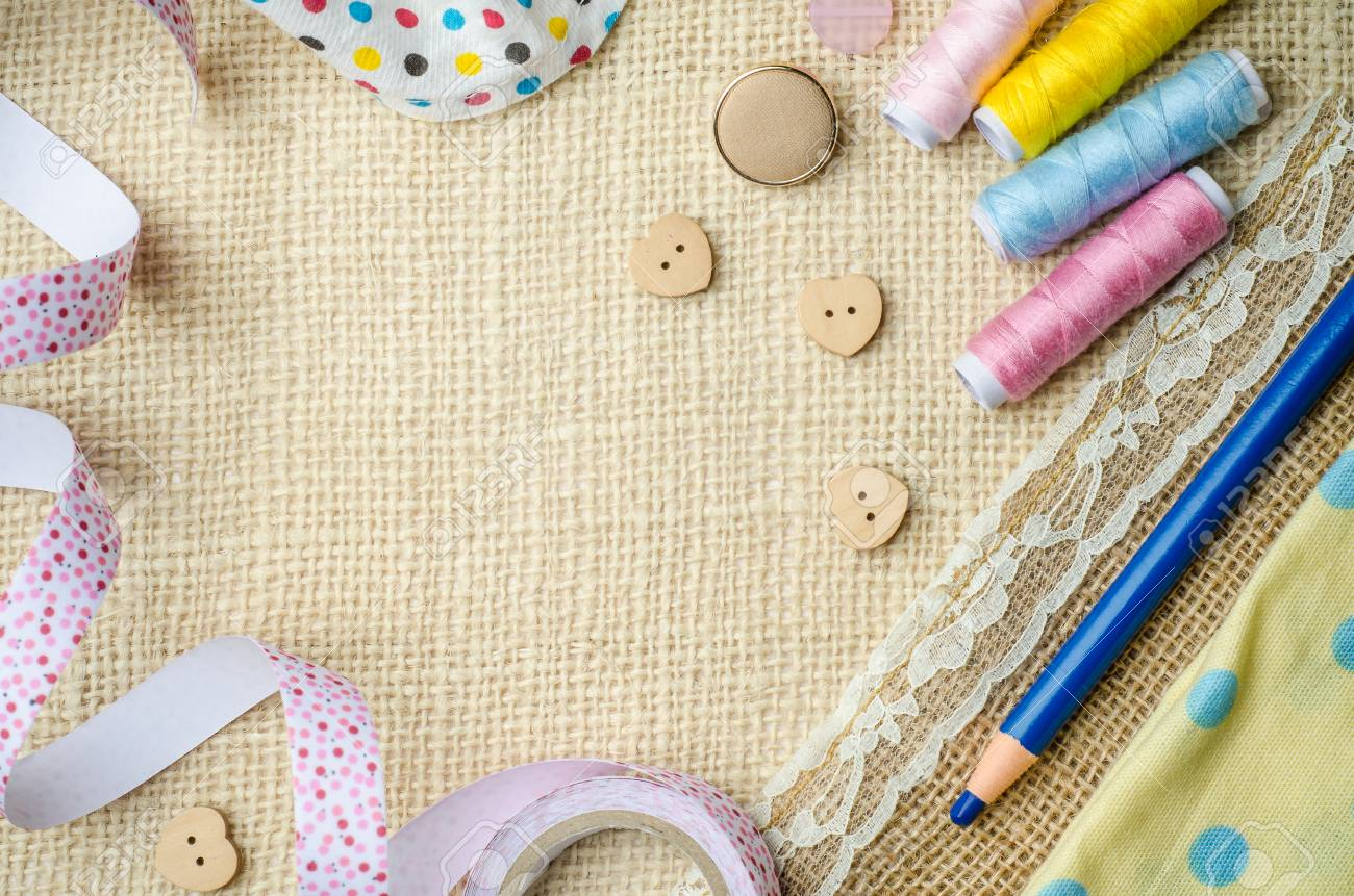 Free Download Handmade Craft Materials On Burlap Sack Background Stock Photo 1300x861 For Your Desktop Mobile Tablet Explore 31 Crafts Backgrounds Crafts Wallpaper Wallpaper Crafts Pinterest Wallpaper Crafts