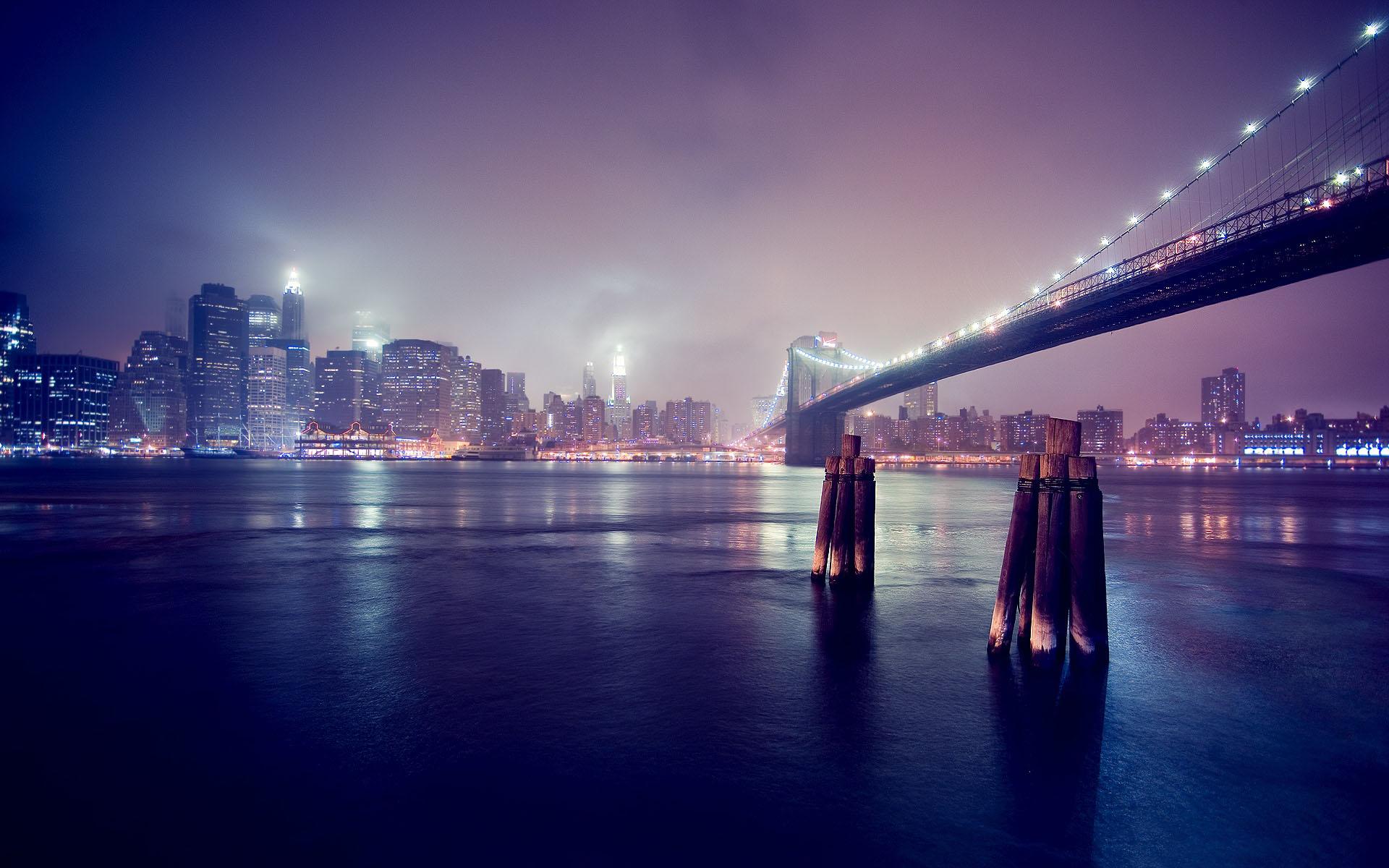 chicago bridge night skyline widescreen hd wallpapers 1920x1200
