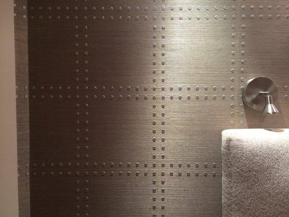 Phillip Jeffries Rivets Wallpaper in Yorkville Manhattan Krrb 584x438