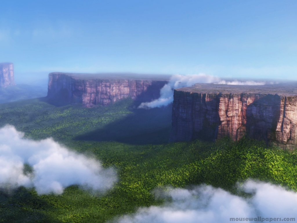 Disney Wallpaper up clouds south america plateau normal wallpaper 1024x768