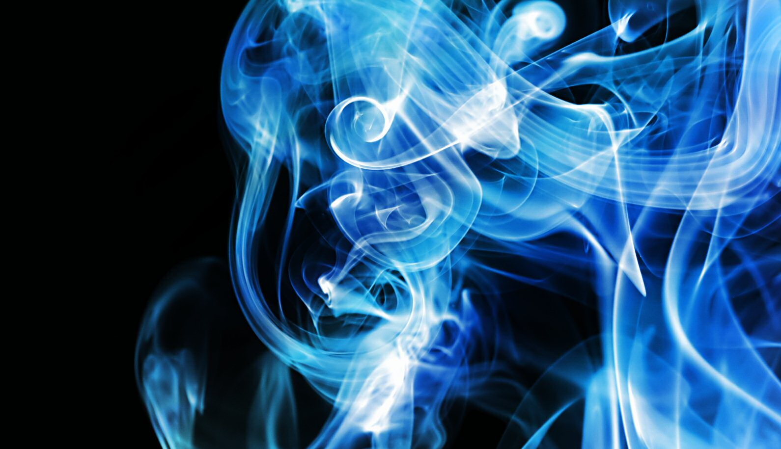 Blue Smoke Wallpaper 1590x915