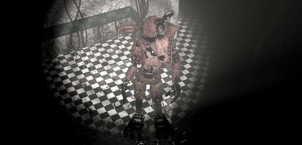 Withered Foxy wallpaper FNAF2 by CraftyMaelyss 1024x492