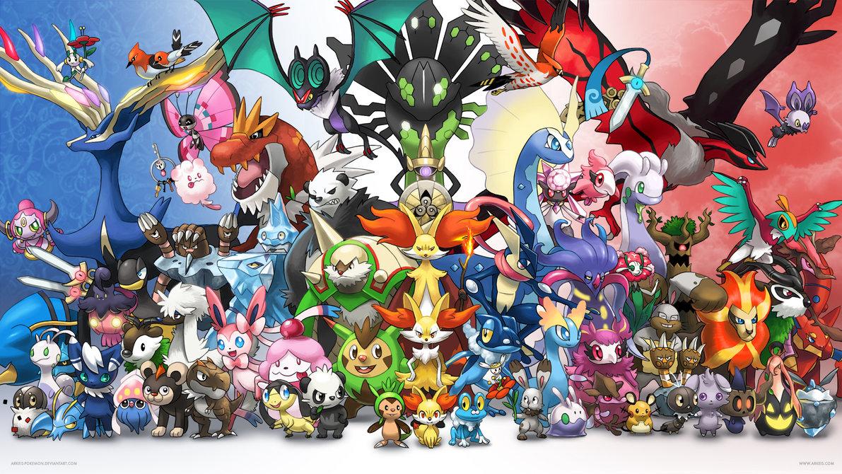 Wallpaper] Generation 6 by arkeis pokemon 1191x670