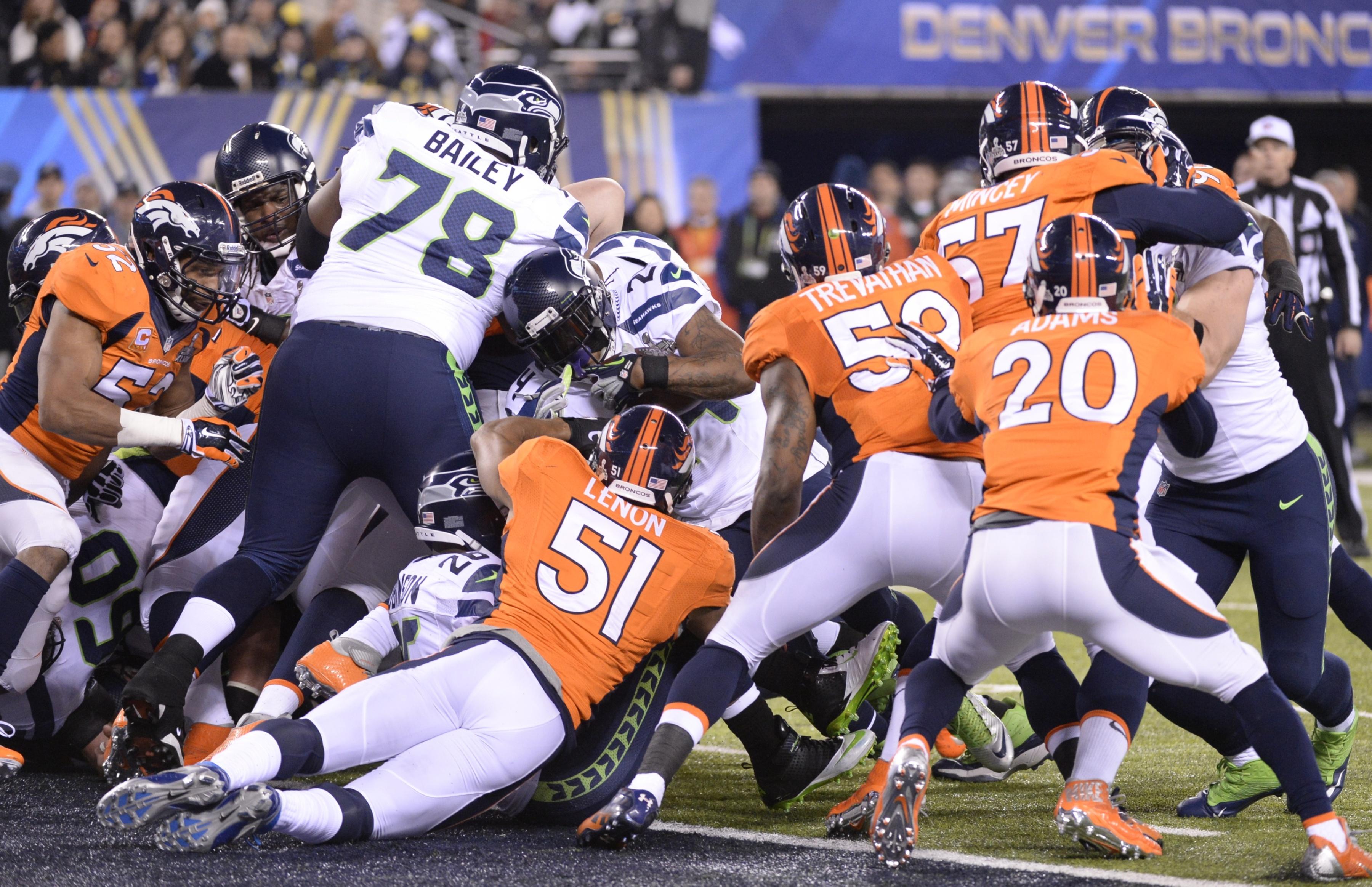 scores a 1 yard touchdown against the Denver Broncos during Super Bowl 3600x2328