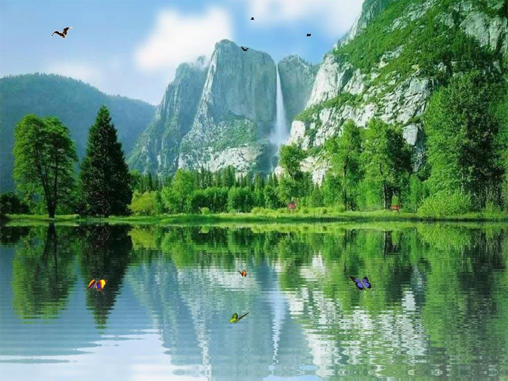 Charming Waterfalls screensaver add a magic window of ceaseless Joy 1024x768