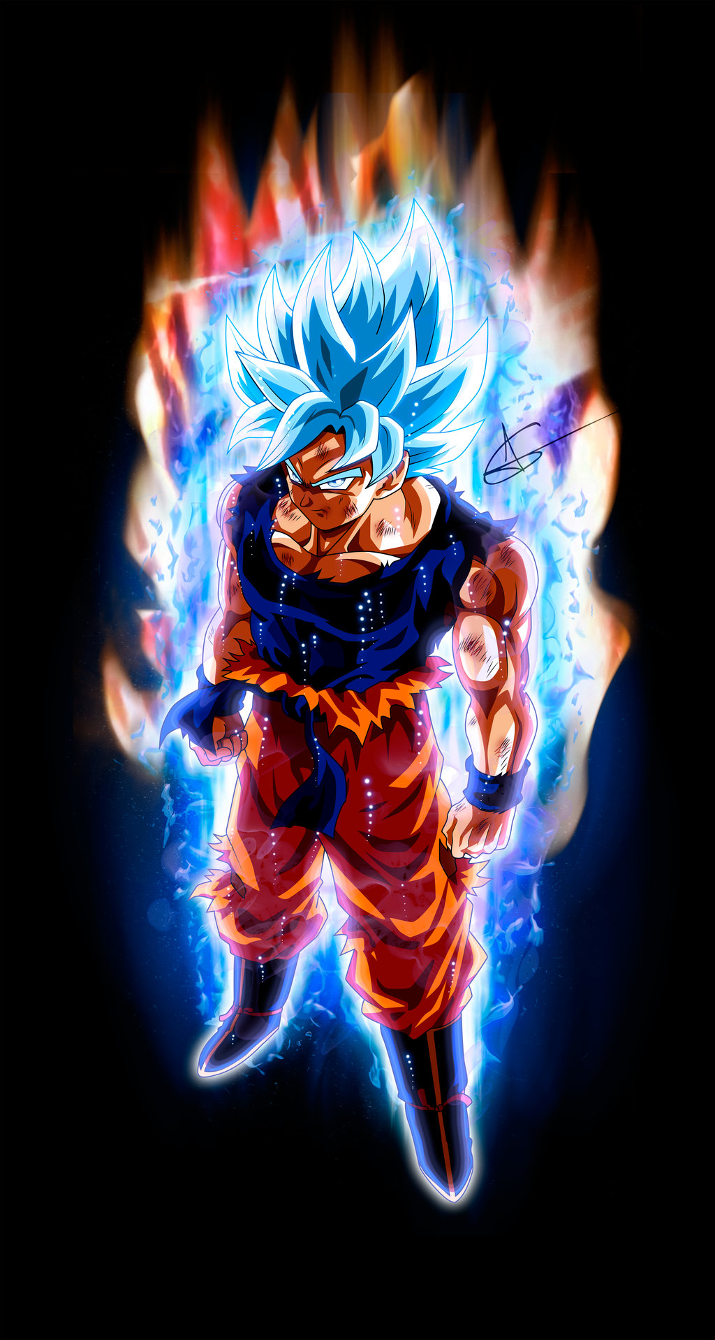Goku Perfect Ultra Instinct SSJ Blue by ArlesonLui on 1024x1918