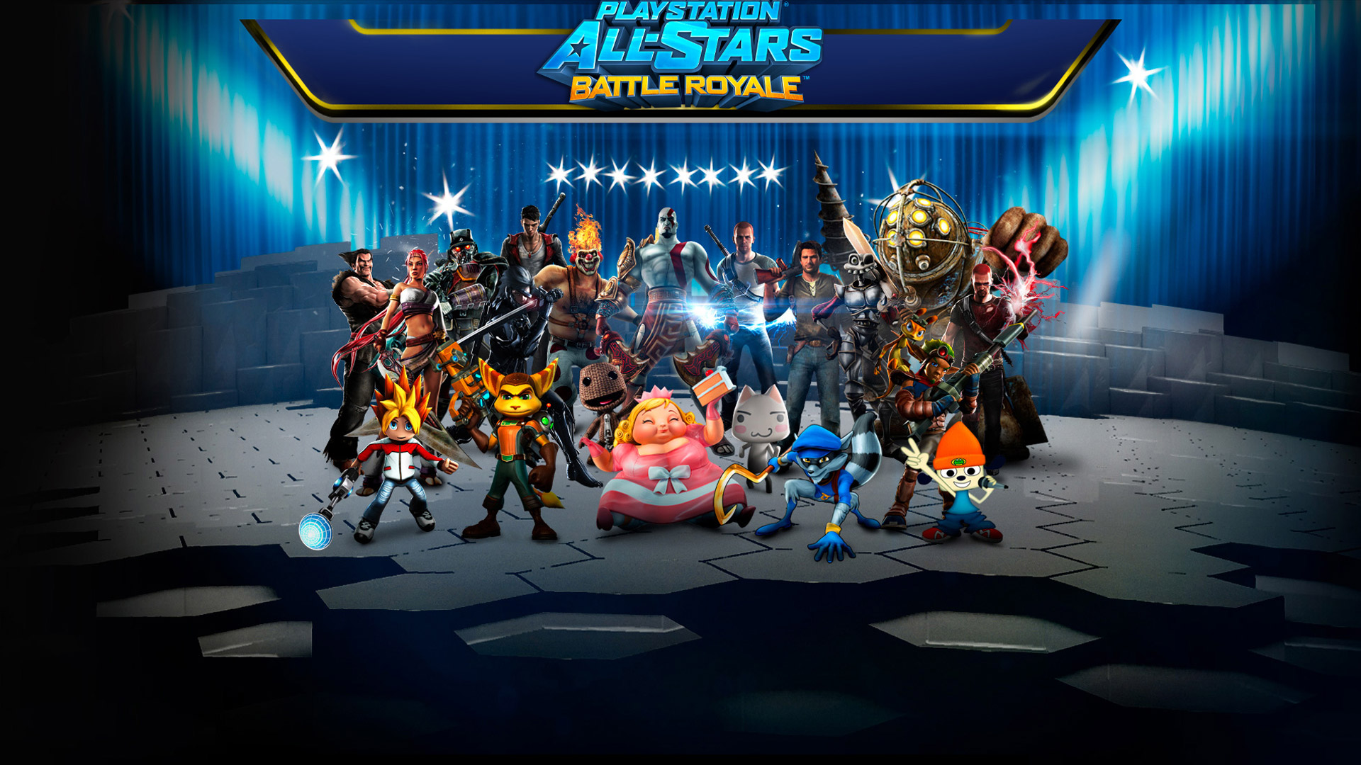 PlayStation All Stars Battle Royale Wallpaper in 1920x1080 1920x1080