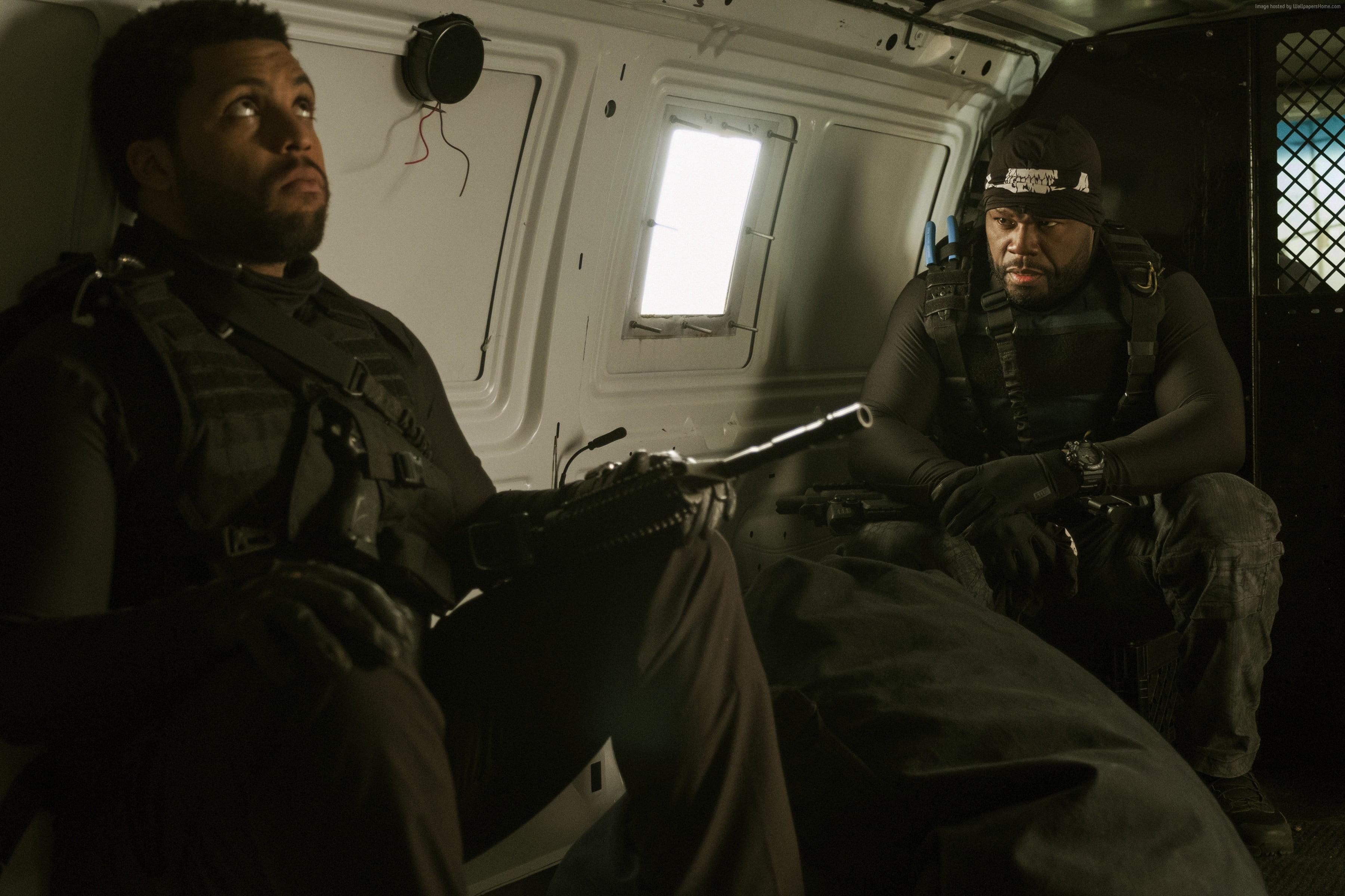 Mens black vest Den of Thieves 50 Cent OShea Jackson Jr HD 3600x2400