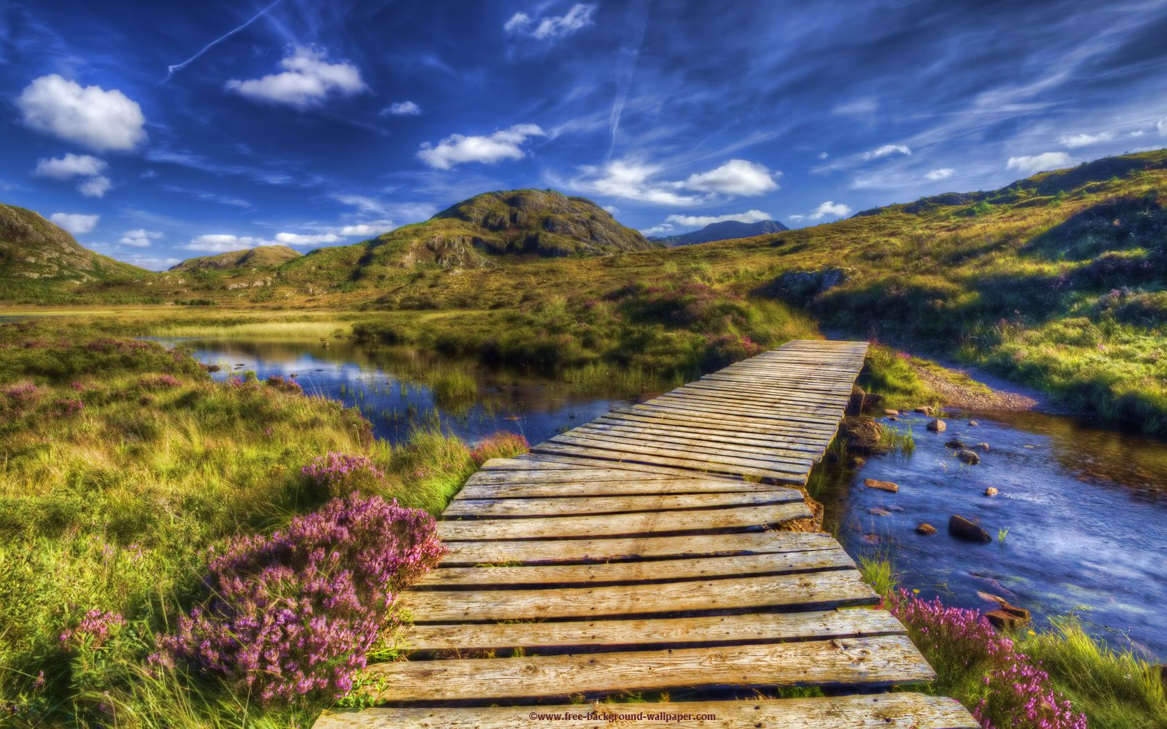 Scottish Highlands Wallpaper Beautiful Bridge Highlands Scotland 1680x1050