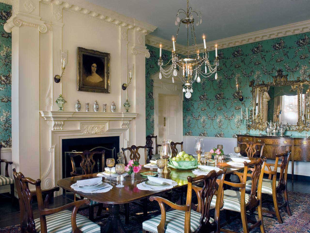 Country Dining Room Wallpaper