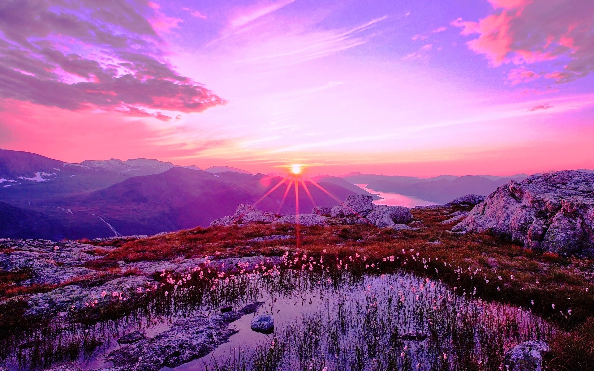 Image for Wallpapers Purple Sunset HD Wallpaper 2014 Download 1920x1200