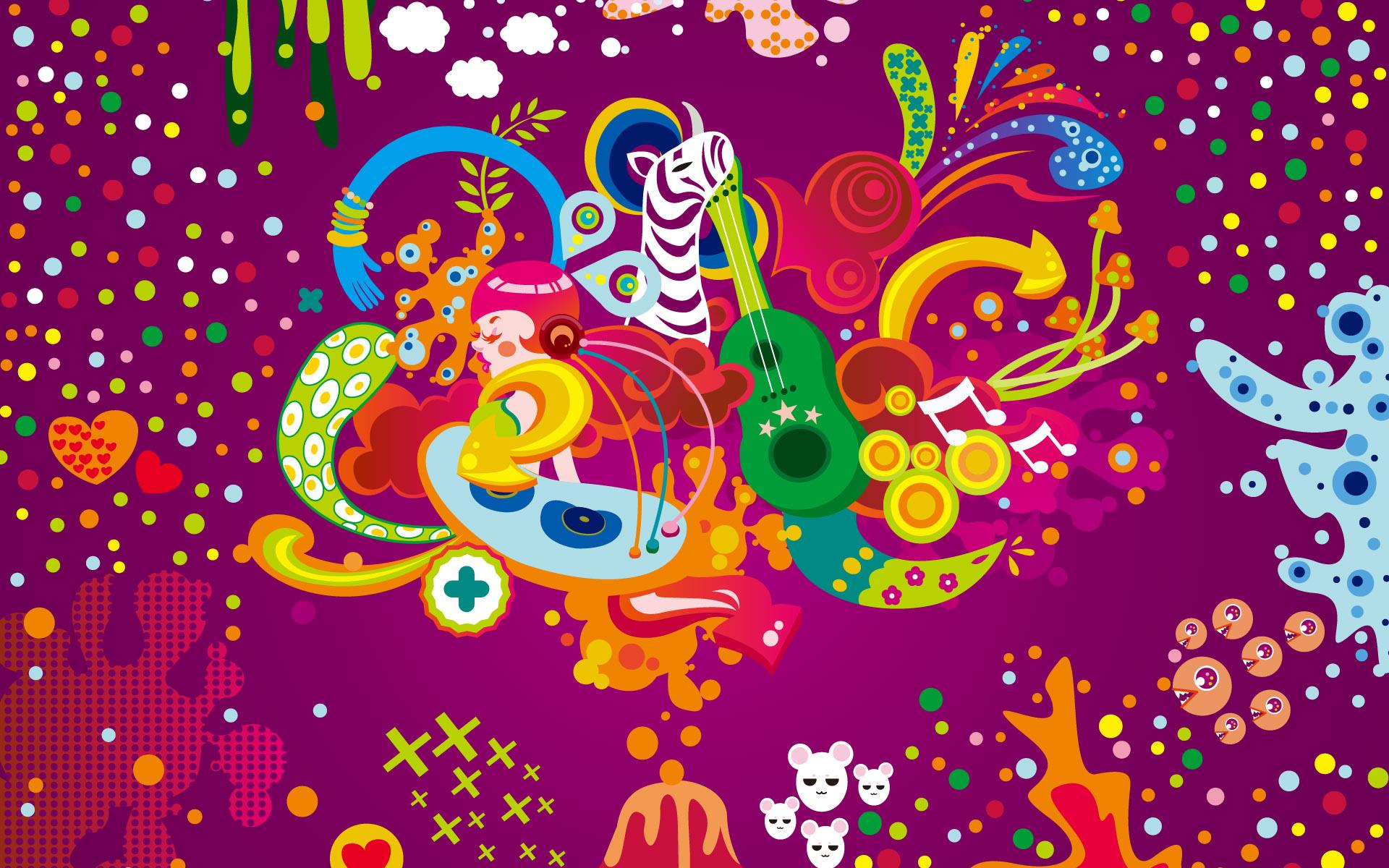 Colorful Vector Backgrounds HD Desktop Wallpaper HD Desktop 1920x1200