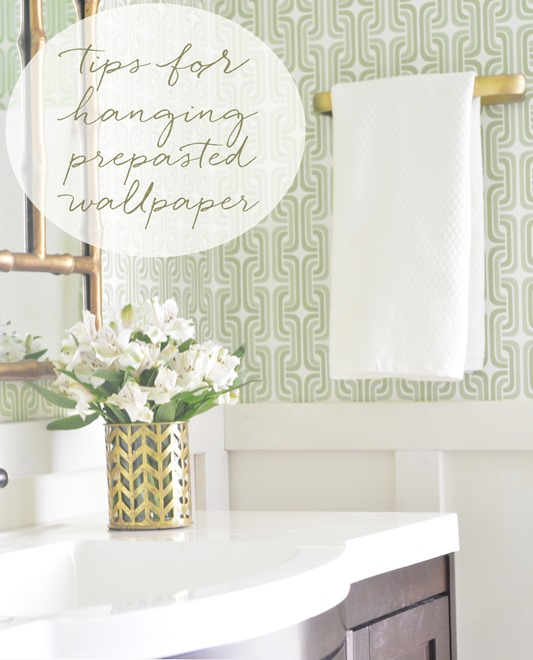 tips for hanging prepasted wallpaper 533x660