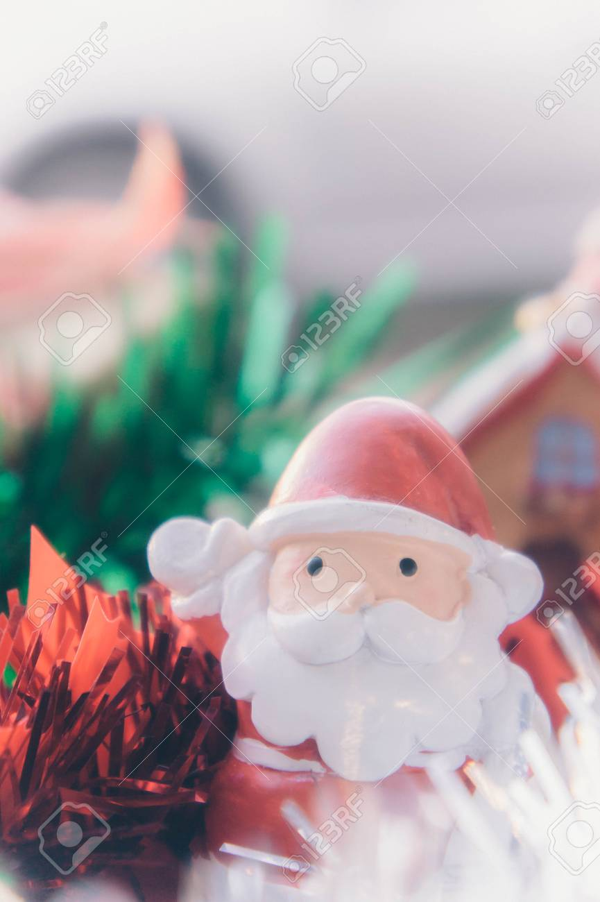 Santa Claus And Chirstmas Background Stock Photo Picture And 865x1300