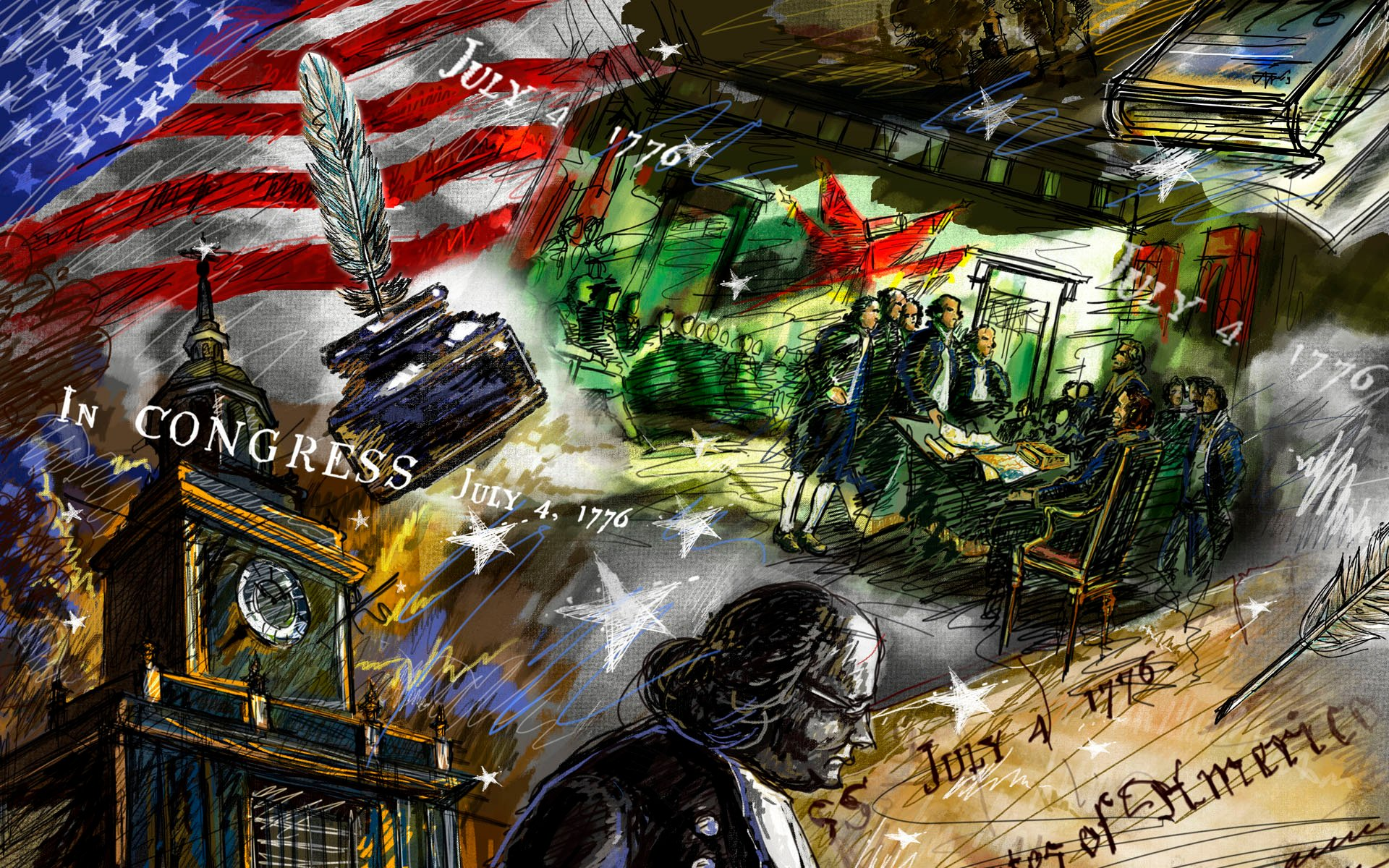 Independence Day   United States Of America Wallpaper 23406497 1920x1200