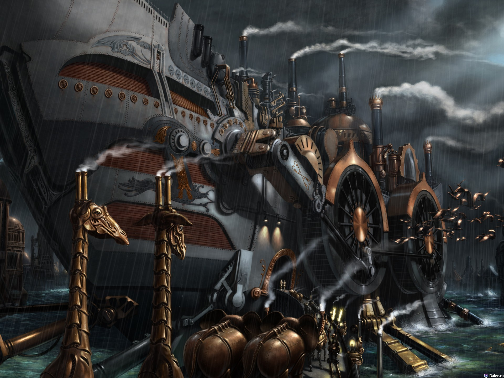 Steampunk Ships Wallpaper 1920x1440 Steampunk Ships Bernard Digital 1920x1440