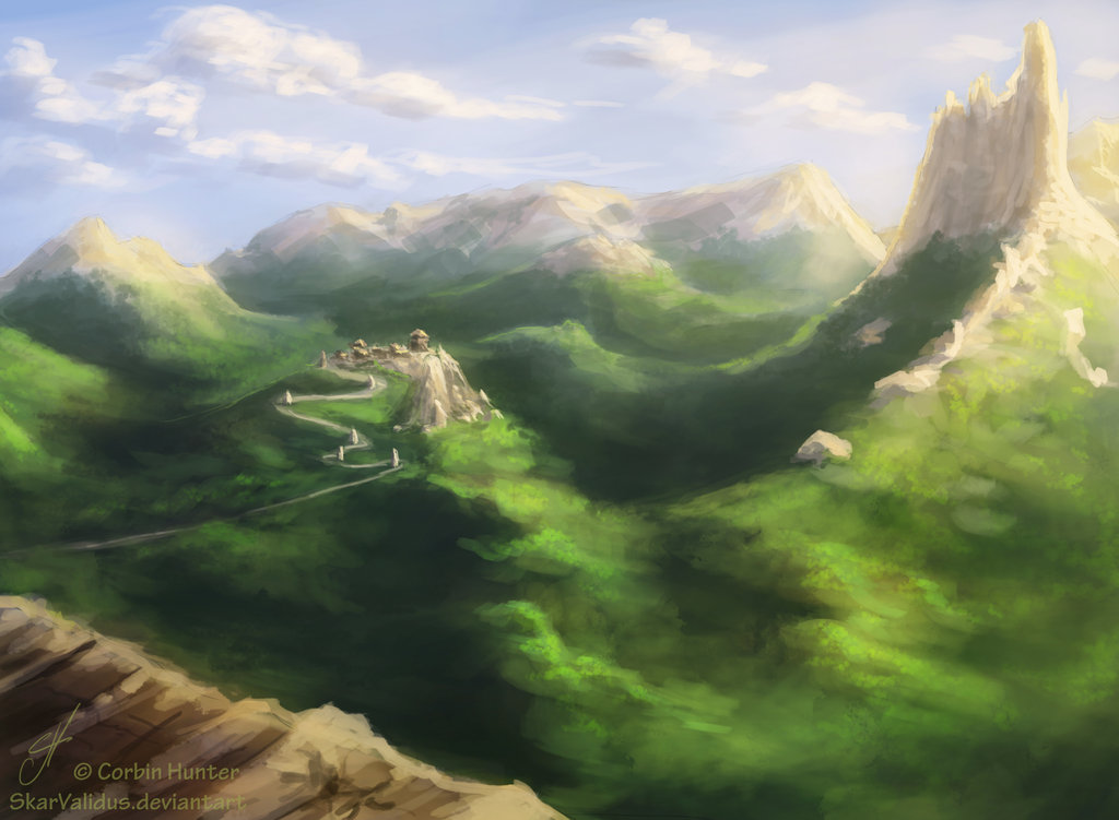 Epic scenery wallpapers wallpapersafari - Fantasy scenery wallpaper ...