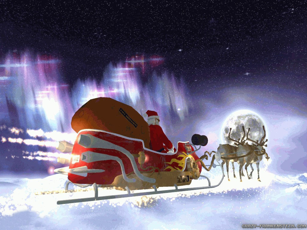 Wallpaper Santas flight North Pole wallpapers 1024x768