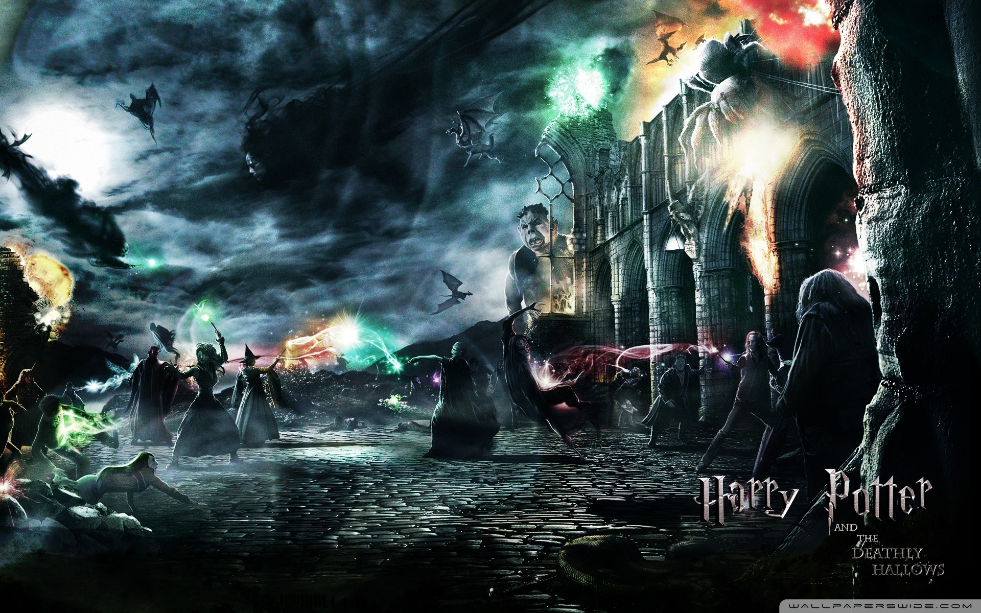 Harry Potter Hogwarts Wallpaper Deathly wallpapers wallpaperup 1920x1200
