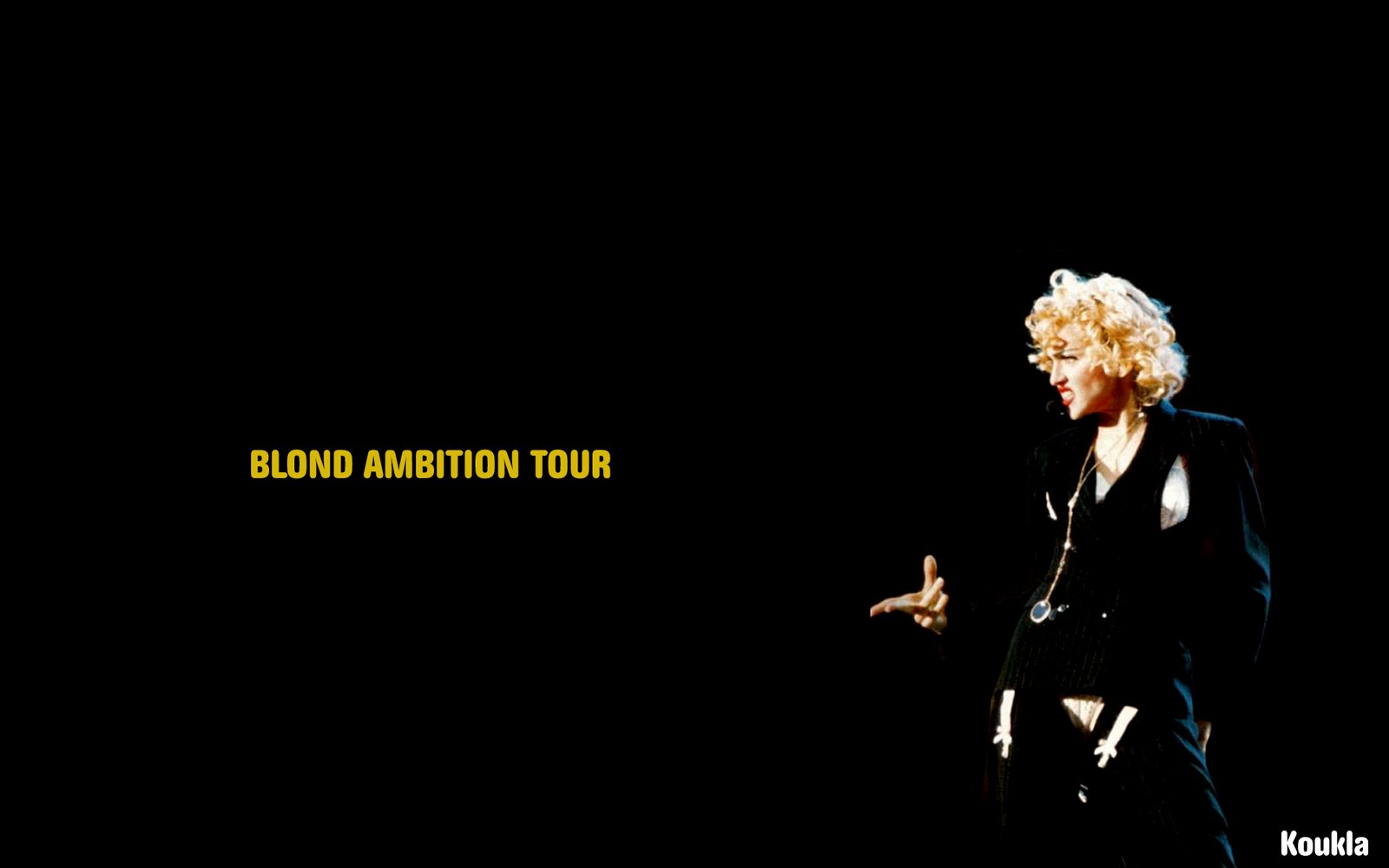 Blond Ambition Tour Wallpaper MADONNA FANMADE ARTWORKS 1600x1000
