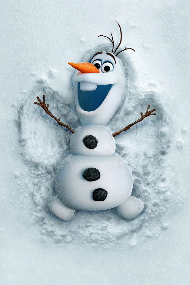 Olaf the snowman Iphone Wallpapers Olaf Christmas Backgrounds 640x960