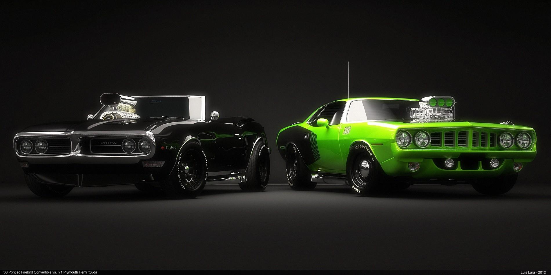 11 Muscle Car Fonds dcran HD Arrire plans 1900x950