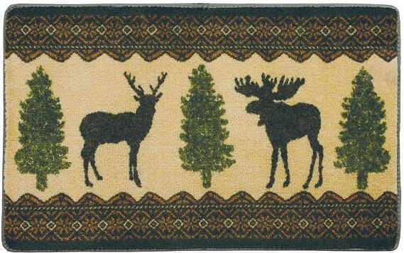 Moose Cabin bathroom Bathroom Rug 569x356