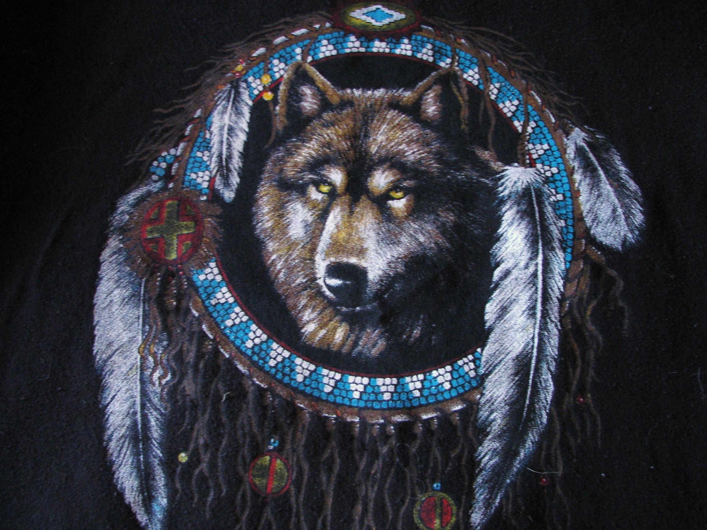 dreamcatcher native wolf spirit wallpaper - photo #16