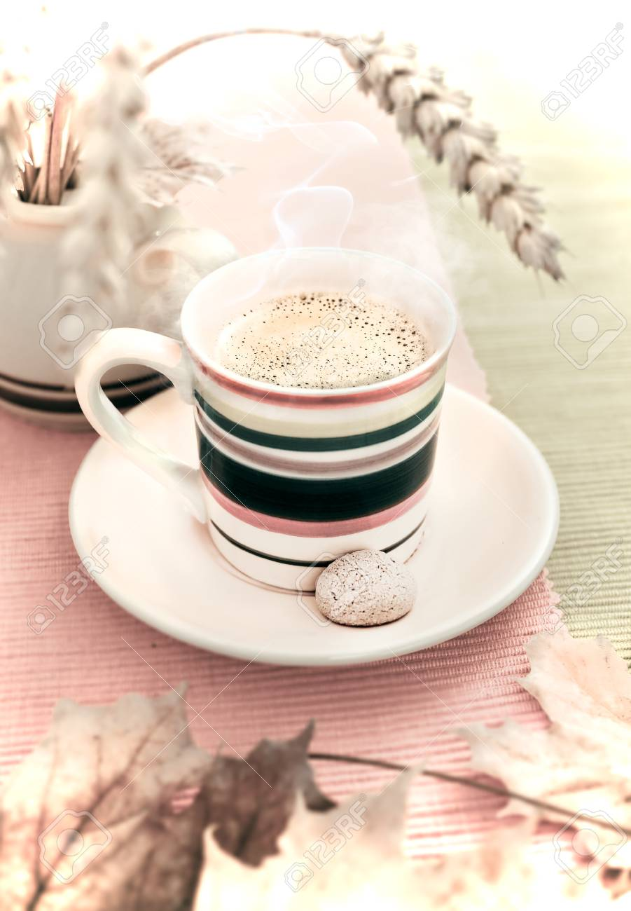 An Expresso Cup On Autumn Background Stock Photo Picture And 901x1300