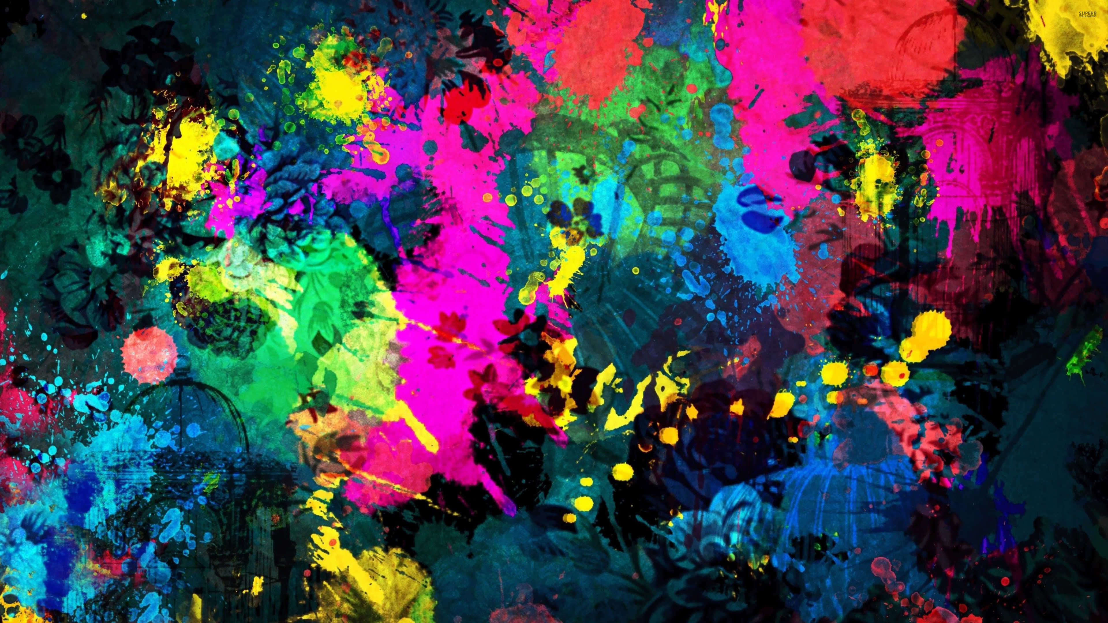 13 June 2014 3840 2160 colorful paint splatter 18695 38402160 3840x2160