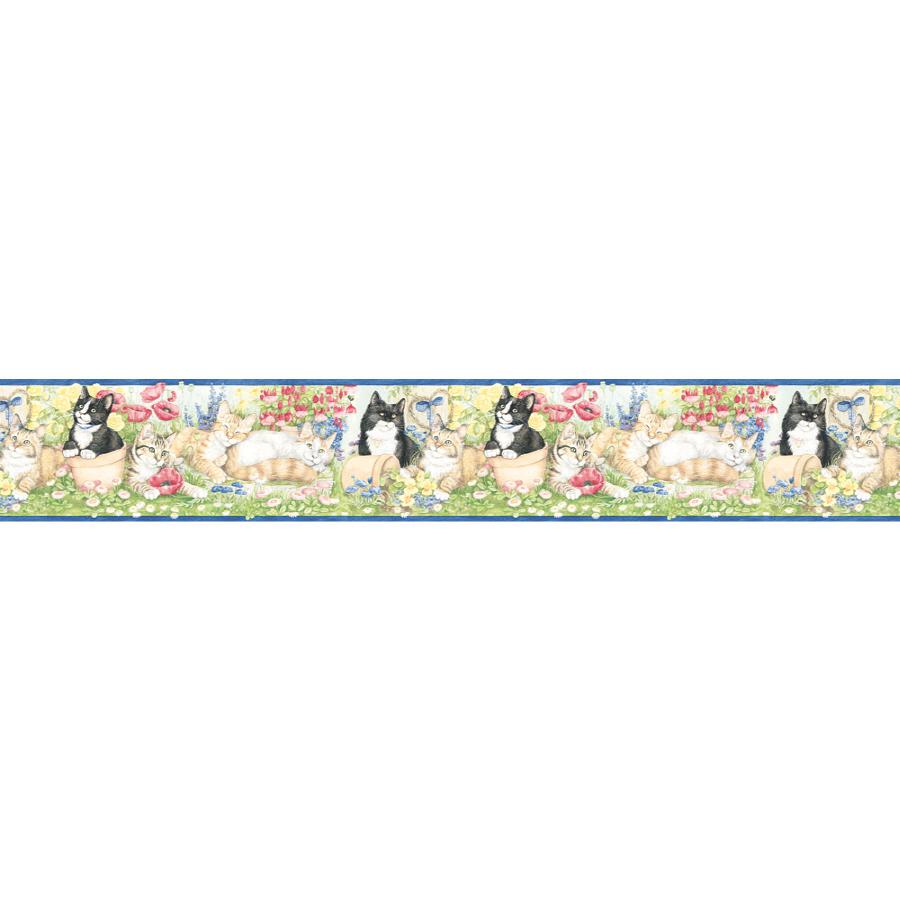 Village 6 78 Garden Kittens Prepasted Wallpaper Border at Lowescom 900x900