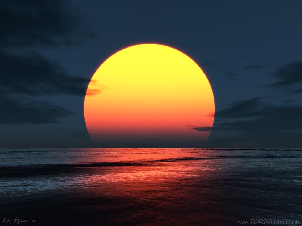 download 3D Sunset wallpaper 1024x768