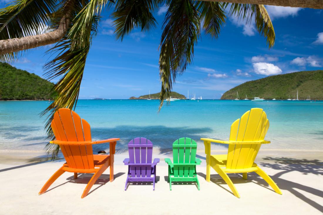 Beach Chair Desktop Wallpaper: Summer Beach Chairs Desktop Wallpaper