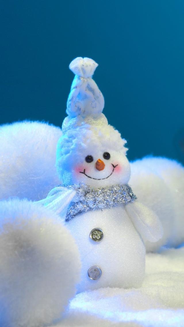 iPhone 5 Wallpapers Christmas Light Snow Man iPhone 5 wallpaper 640x1136