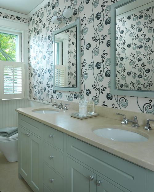 wallpaper bathroom designs 2015   Grasscloth Wallpaper 500x622