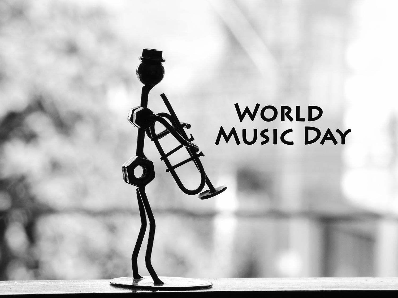 World Music Day musician pipe metal statue wallpaper 1500x1125