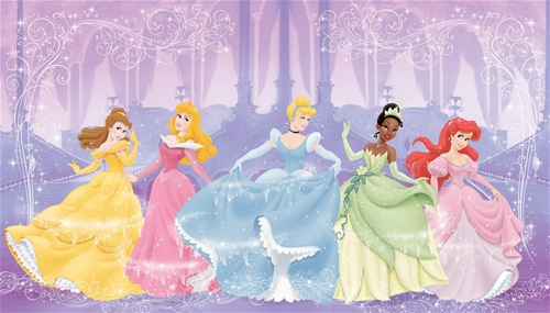 Disney Princess large panelled murals 105 by 6 Tots n Tales Blog 500x285