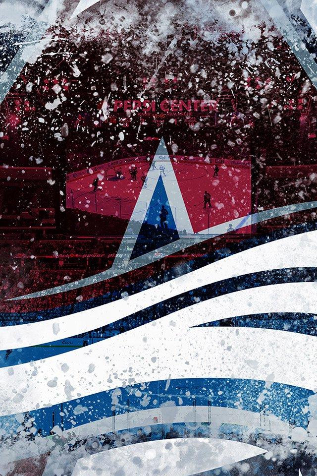 colorado avalanche ice logo   parallax HD iPhone iPad wallpaper 640x960
