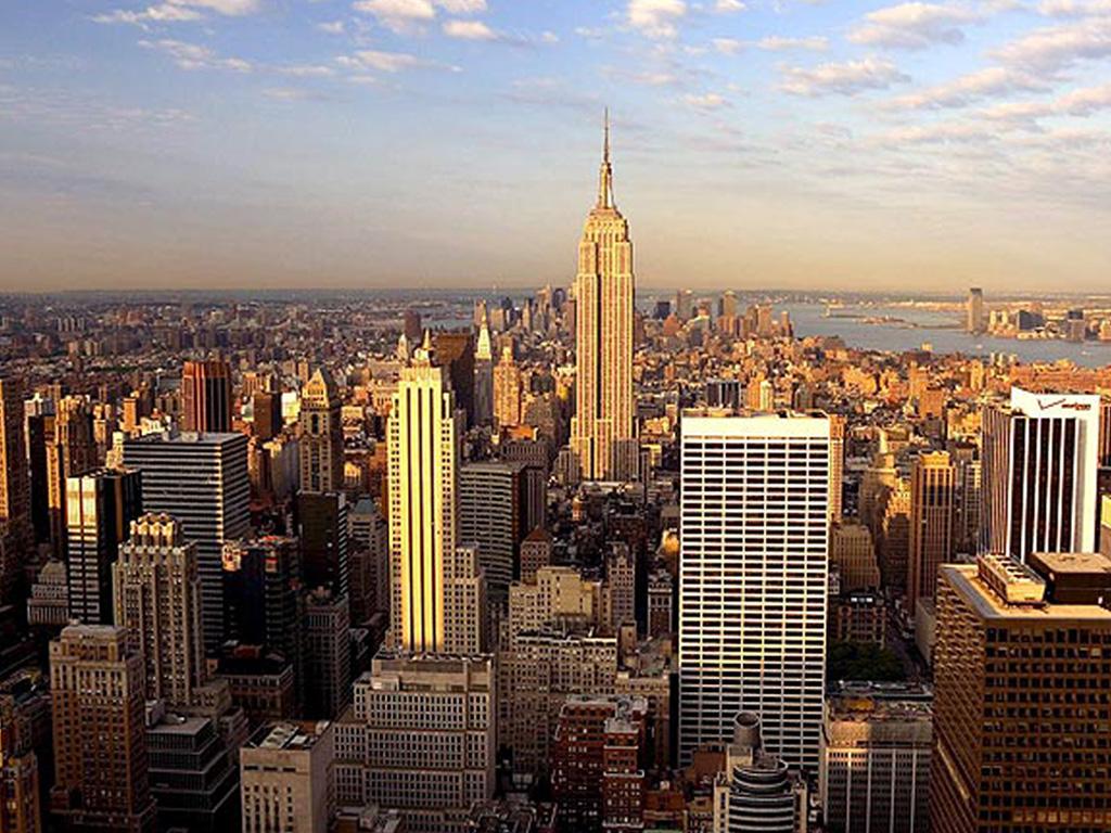 New york skyline wallpaper wallpapersafari for New wallpaper