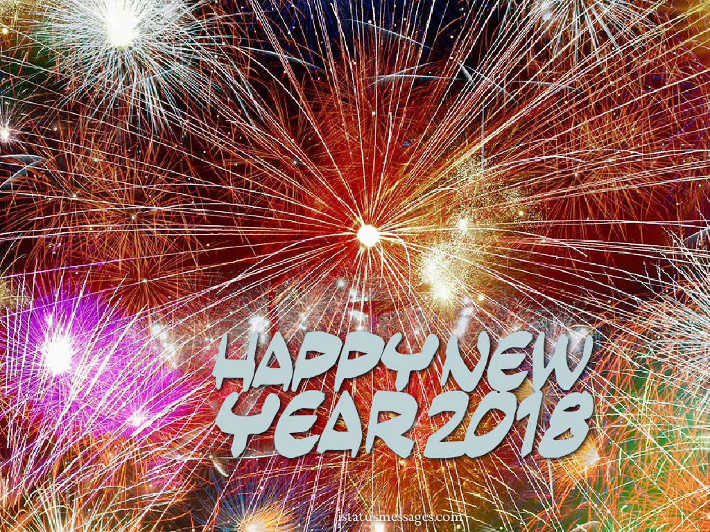 new year wishes 2018 wallpapers Whatsapp Status Messages 1024x768