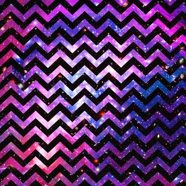 Girly Chevron Pattern Cute Pink Teal Nebula Galaxy Art Print by Girly 600x600